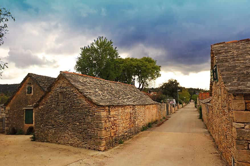 Skrip village is one of the places to see on Brac island