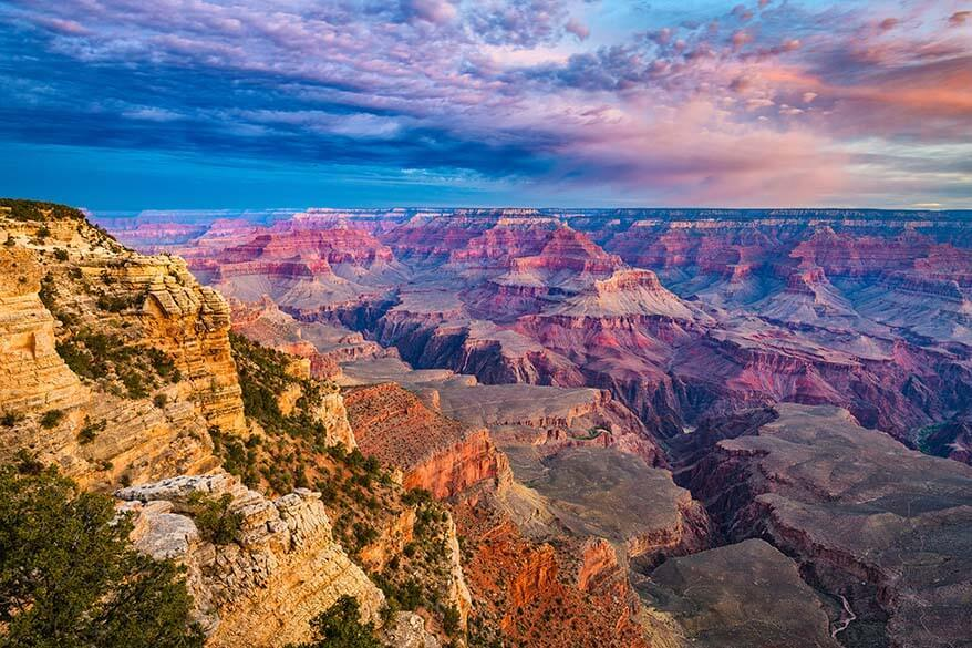 South Rim is the best option if you have just one day in the Grand Canyon