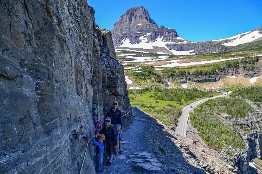 The Highline Trail is one of the best hikes in Glacier NP