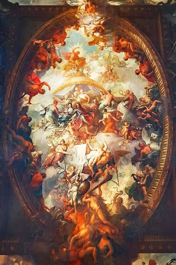 Ceiling of the Painted Hall - Greenwich, London