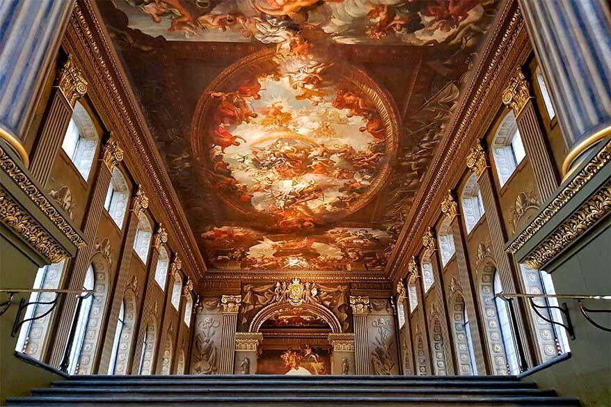 The Painted Hall in the Old Royal Naval College - must see in Greenwich