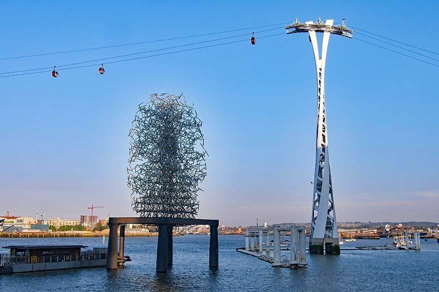 The Quantum Cloud sculpture by Anthony Gormley in London UK