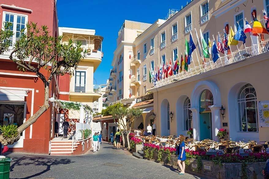 Via Camerelle in Capri Italy