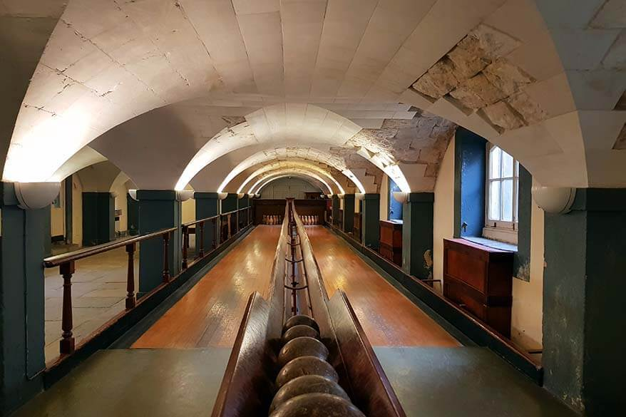 Victorian Skittle Alley is not to be missed when visiting the Old Royal Naval College in Greenwich