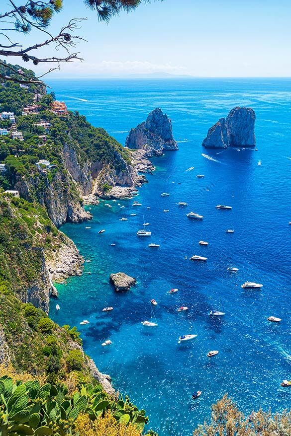 View from Giardini di Augusto - one of the best views in Capri Italy