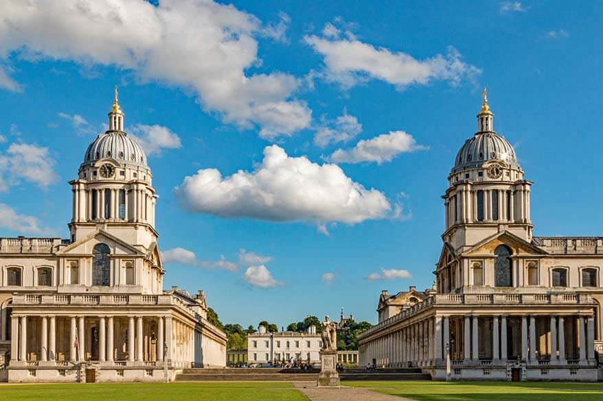 Visiting the Old Royal Naval College in Greenwich London