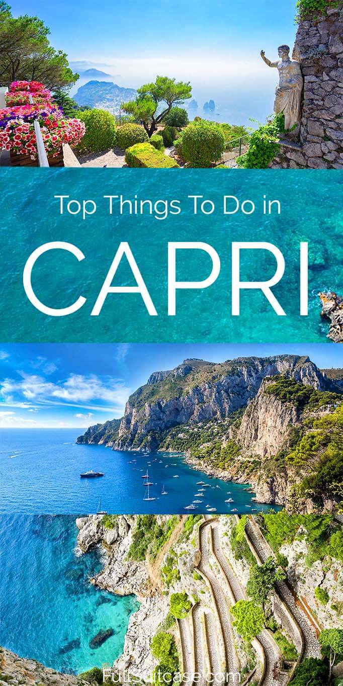 What to see and do on Capri island in Italy and suggested one day itinerary