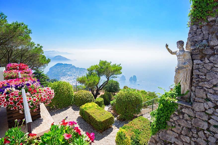 What to see in Capri - view from Monte Solaro