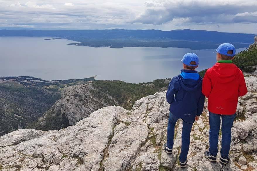 Zlatni Rat and Bol as seen from the top of Vidova Gora on Brac island