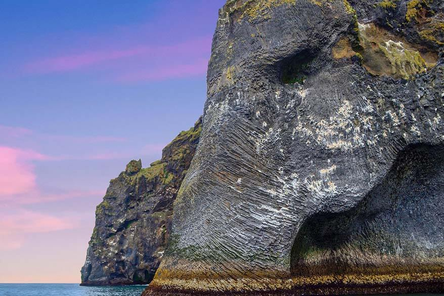 Elephant Rock in the Westman Islands Iceland