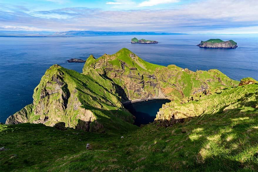 Heimaey Island cliffs on Vestmann Islands