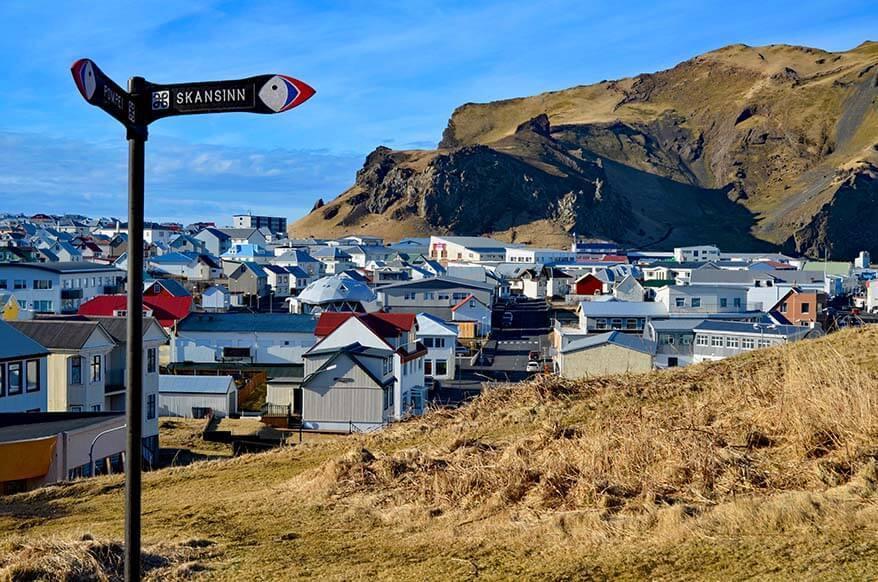 Vestmannaeyjabaer town on Heimaey island