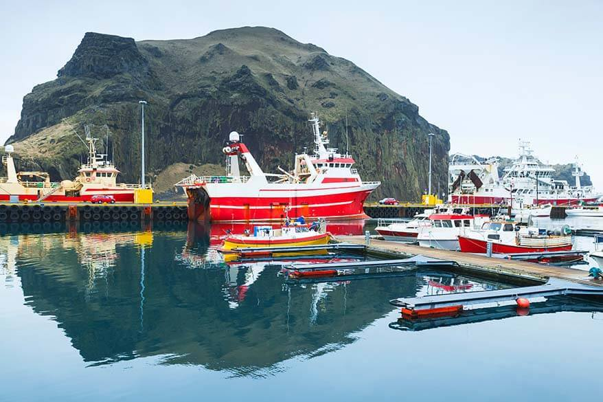 Vestmannaeyjar island harbor - Westman Islands Iceland