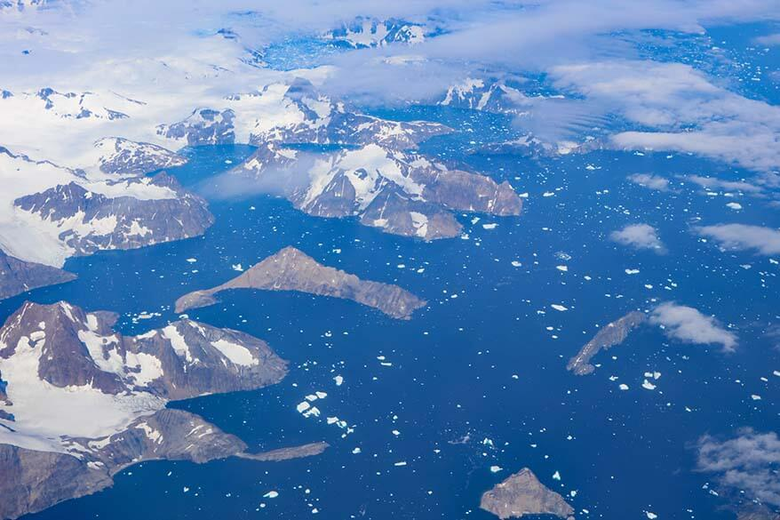 Greenland as seen from an airplane