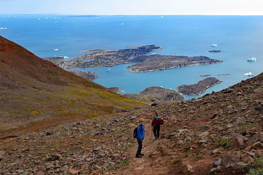 Hiking to Lyngmark Glacier on Disko Island in Greenland