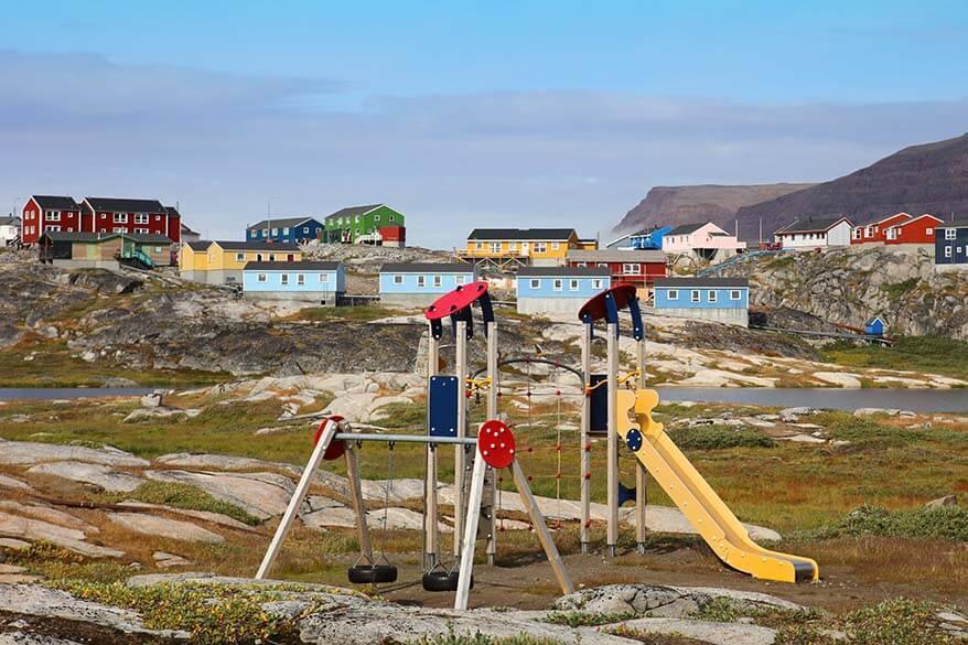 Kids playground in Greenland