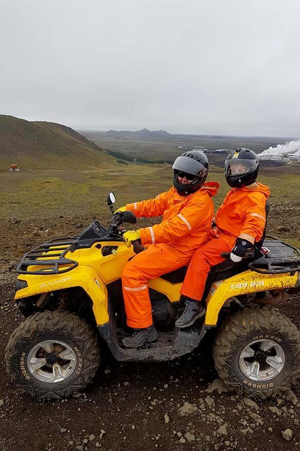 ATV quad bike 4x4 tour in Reykjanes Geopark near Grindavik in Iceland