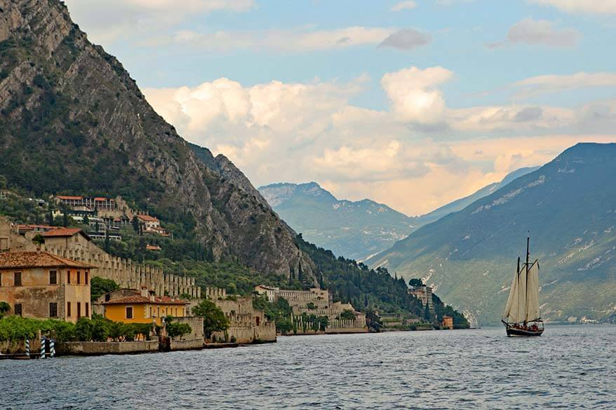 Boat trip is one of the best things to do in Lake Garda Italy