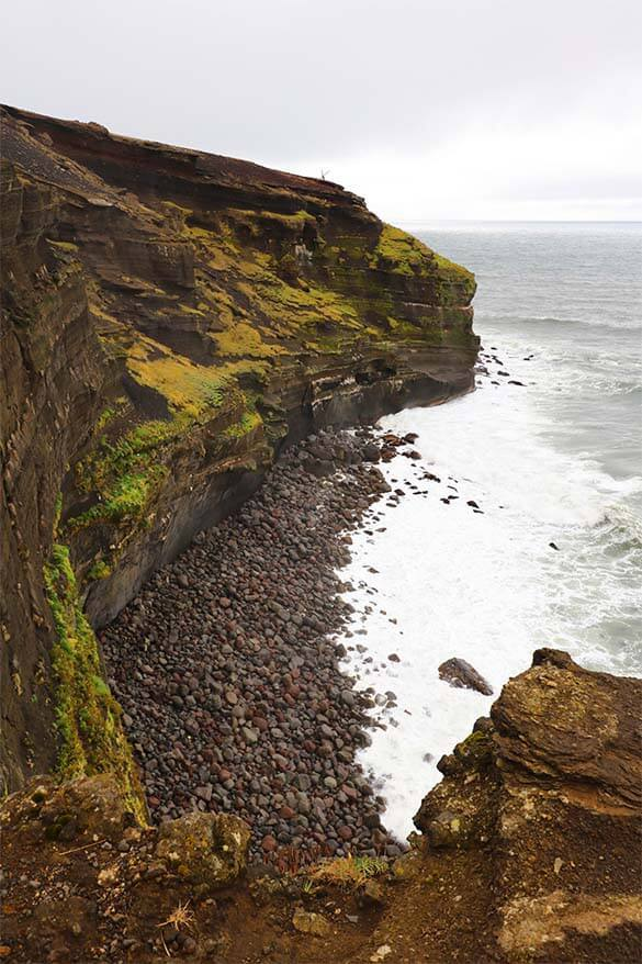Cliffs at Krysuvikurberg on Reykjanes Peninsula Iceland