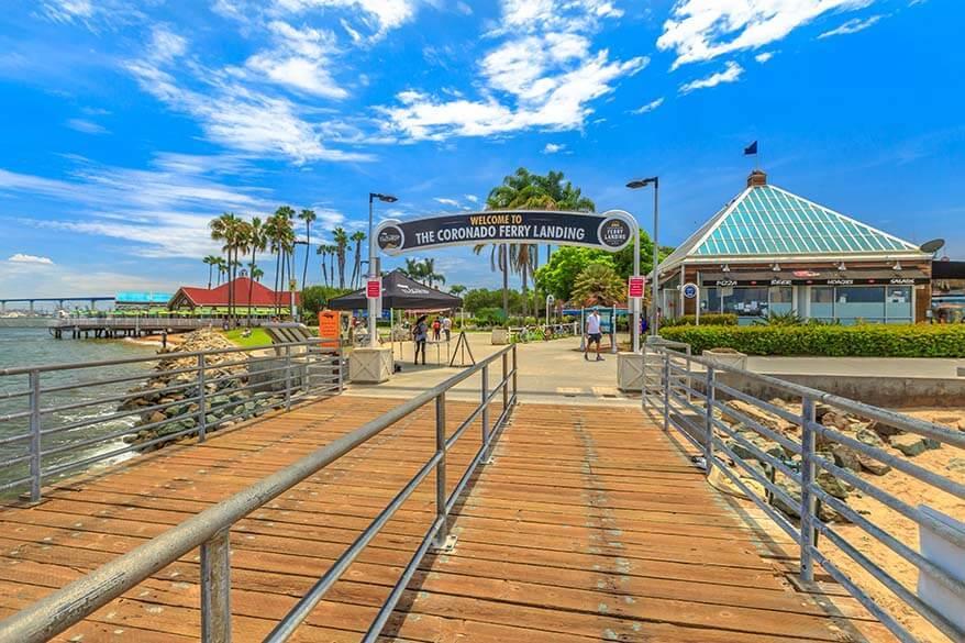 Coronado Ferry Landing at Coronado Island beach in San Diego Bay California