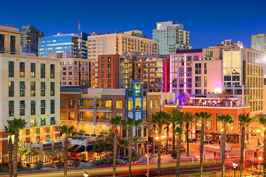 Gaslamp Quarter - one of the best places to see in San Diego California