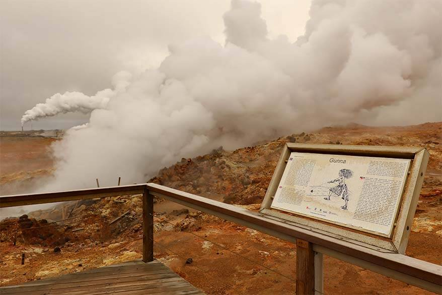 Gunnuhver geothermal area - one of the best places to see in Reykjanes Peninsula in Iceland