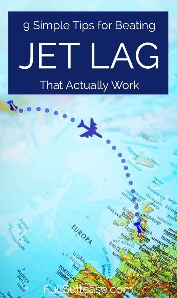 How to avoid jet lag - simple tips for beating jet lag that actually work. Based on our experience with hundreds of flights. Find out!