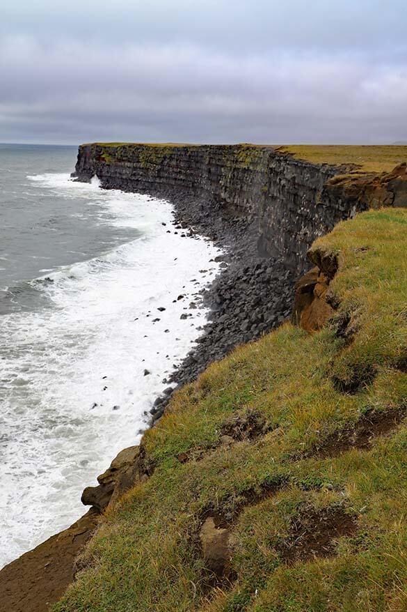 Krysuvikurberg Cliffs on Reykjanes Peninsula in Iceland