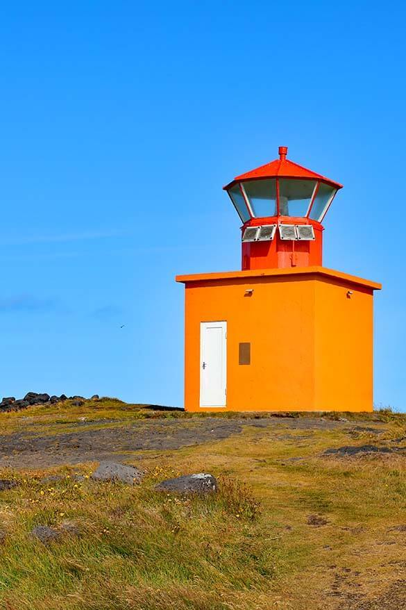 Ondverdarnes lighthouse in Snaefellsnes Peninsula Iceland