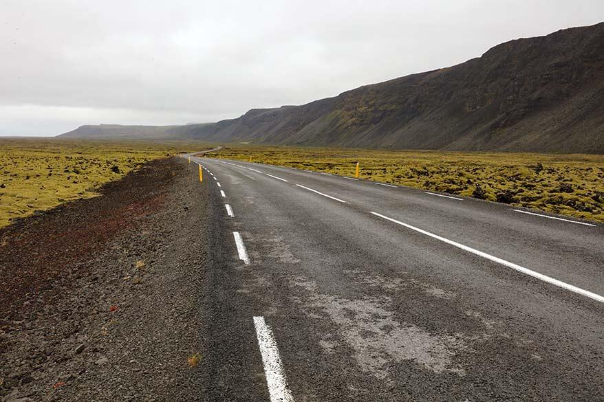 A road on Reykjanes Peninsula in Iceland