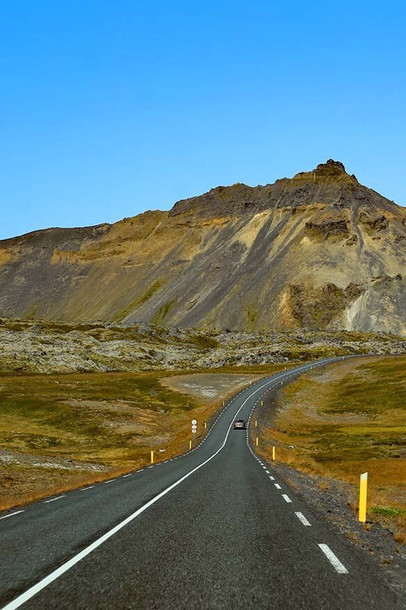 Road on Snaefellsnes Peninsula in Iceland