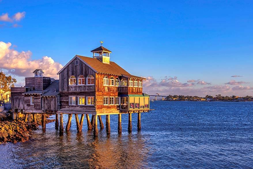 San Diego Pier Cafe at Seaport Village, one of the best places to visit in San Diego, California