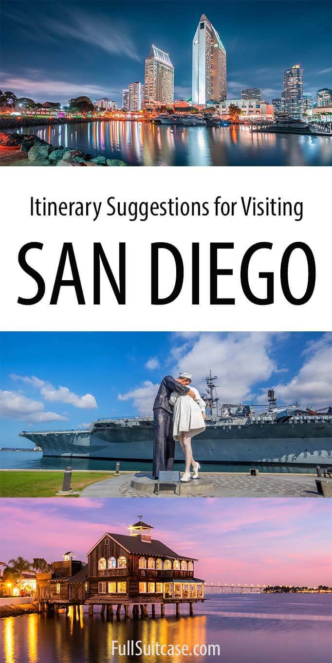 San Diego itinerary - best things to see and do in San Diego in one, two, or three days