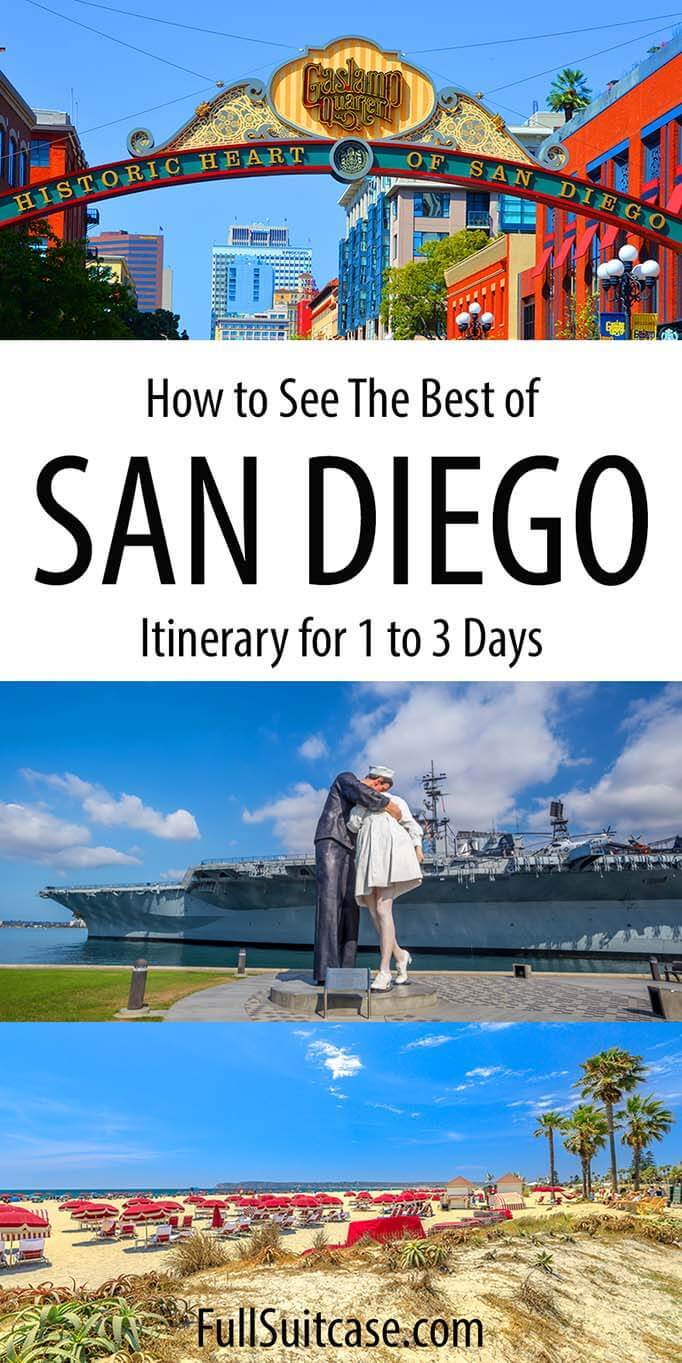 San Diego itinerary for one to three days