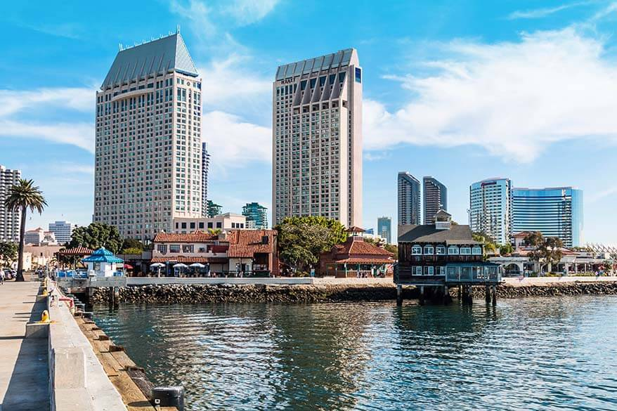 Seaport Village and Downtown San Diego - one of the best places to see in San Diego in one day