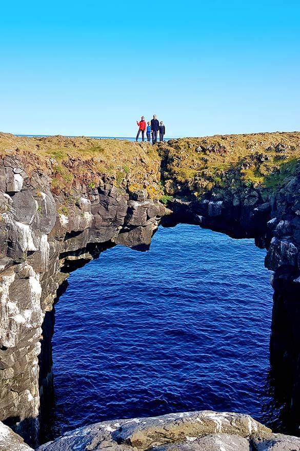 Stone Bridge in Arnarstapi Iceland