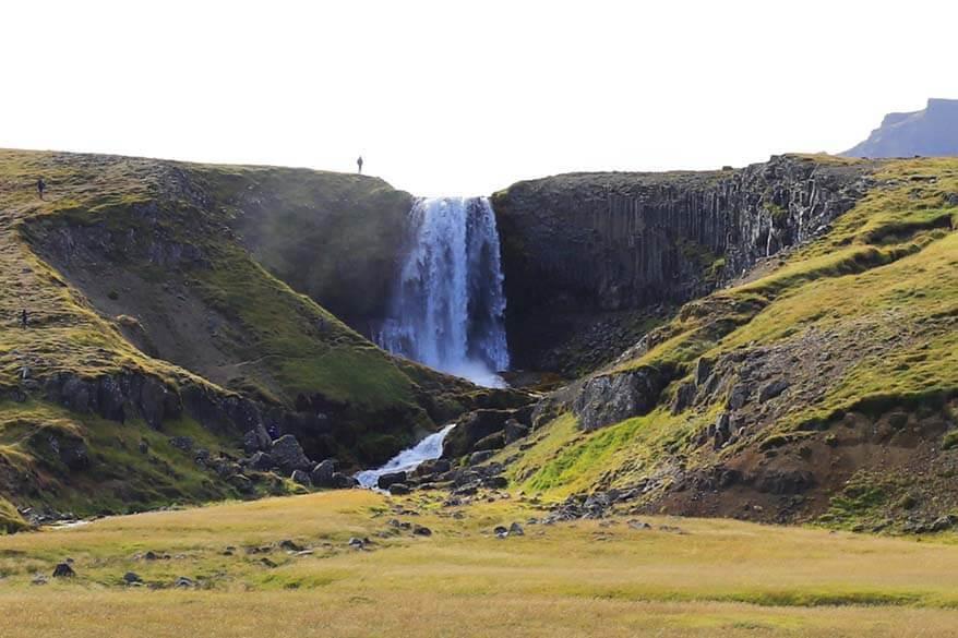 Svodufoss waterfall in Iceland