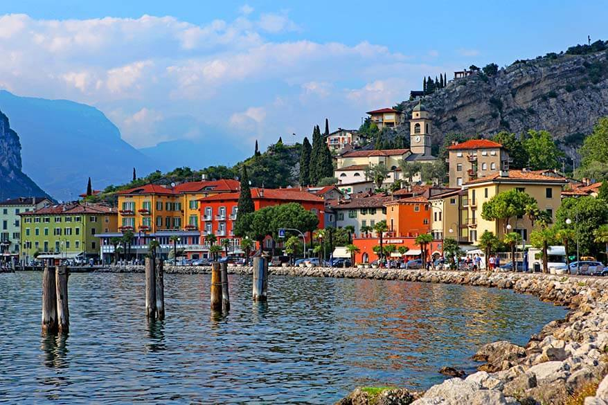 Torbole - one of the nice little towns to visit in Lake Garda Italy
