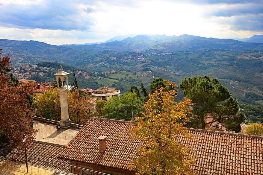 Amazing view over San Marino