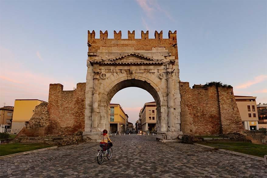 Arch of Augustus in Rimini Italy