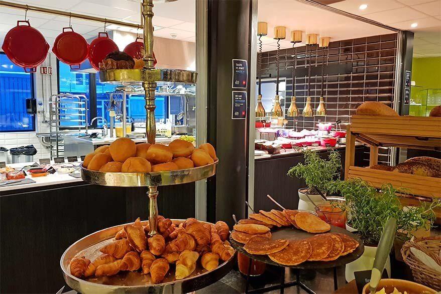 Breakfast buffet at a hotel in Tromso Norway