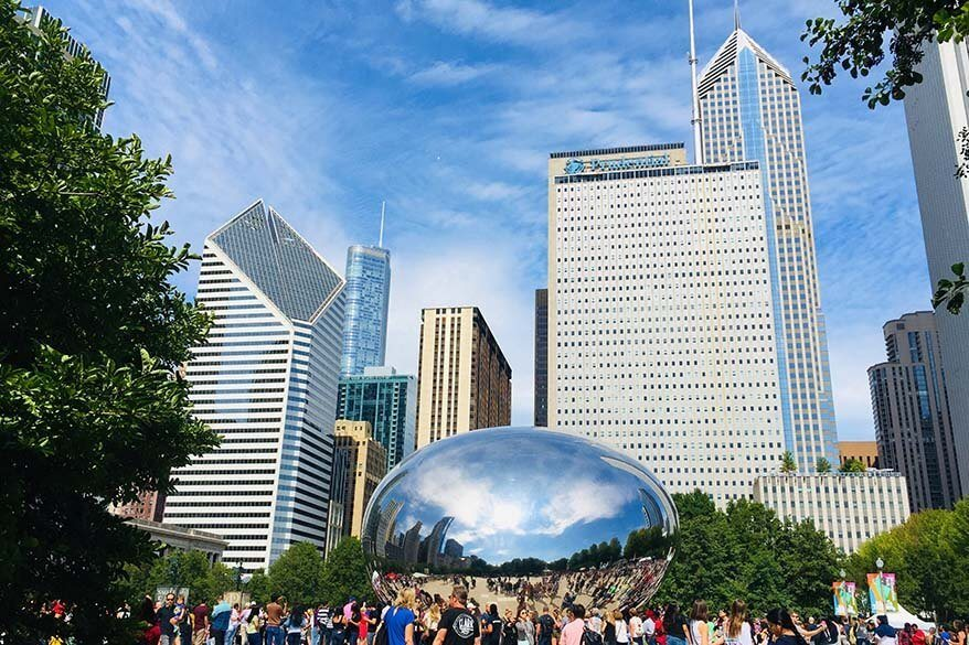 Cloud Gate (the Bean) is not to be missed in Chicago