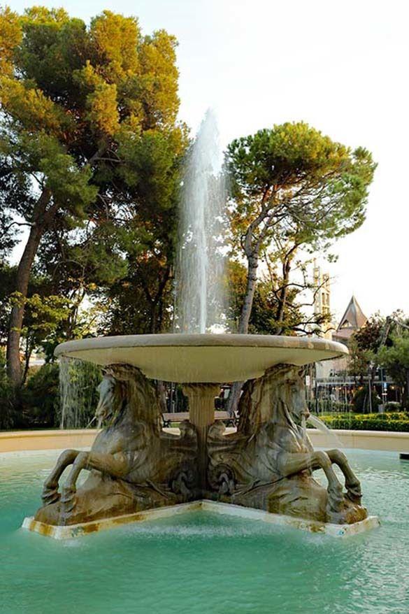 Fountain of the Four Horses in Rimini, Italy