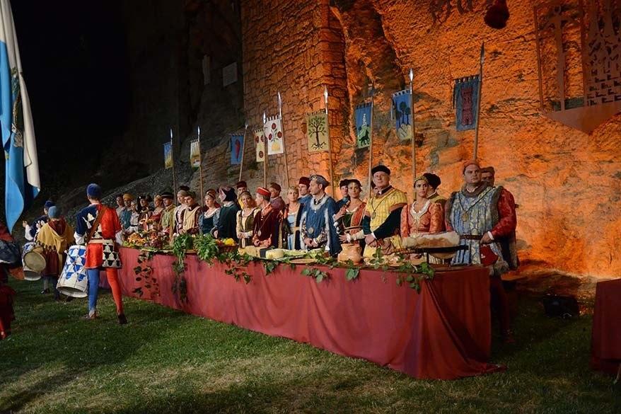 Giornate Medioevali at Cava dei Baletrieri in San Marino