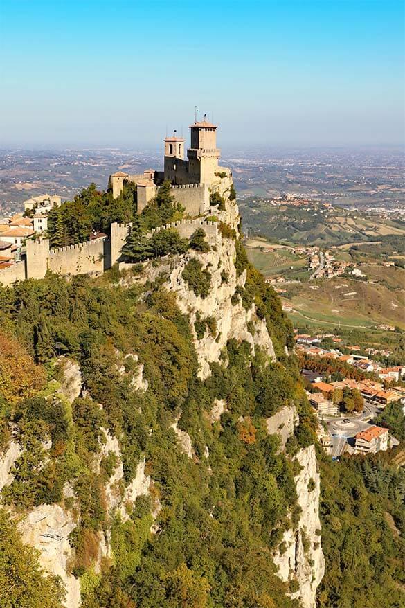 Guaita Tower (La Rocca) in San Marino