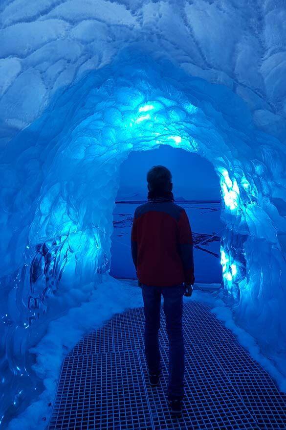 Ice Tunnel at Perlan Museum in Reykjavik
