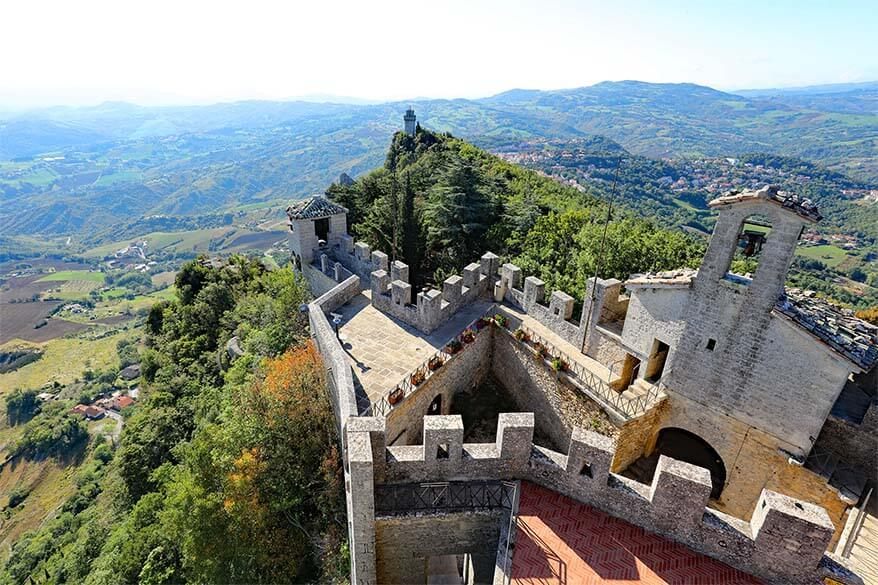 Incredible view from Cesta tower in San Marino