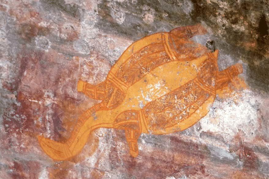 Indigenous rock art at Ubirr in Kakadu National Park Australia