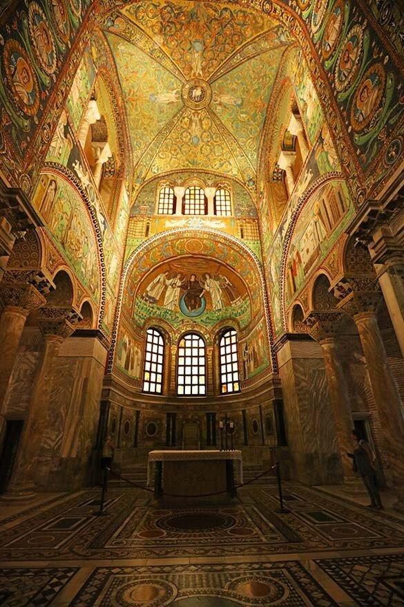 Mosaics on the altar of Basilica di San Vitale in Ravenna Italy
