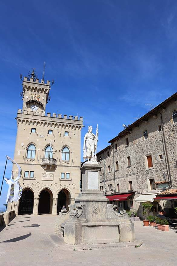 Palazzo Pubblico on Piazza della Liberta in San Marino